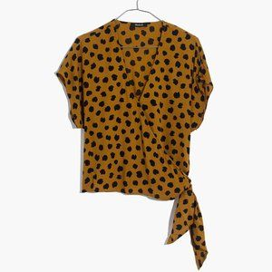 [NWT] Madewell Wrap Top in Gold